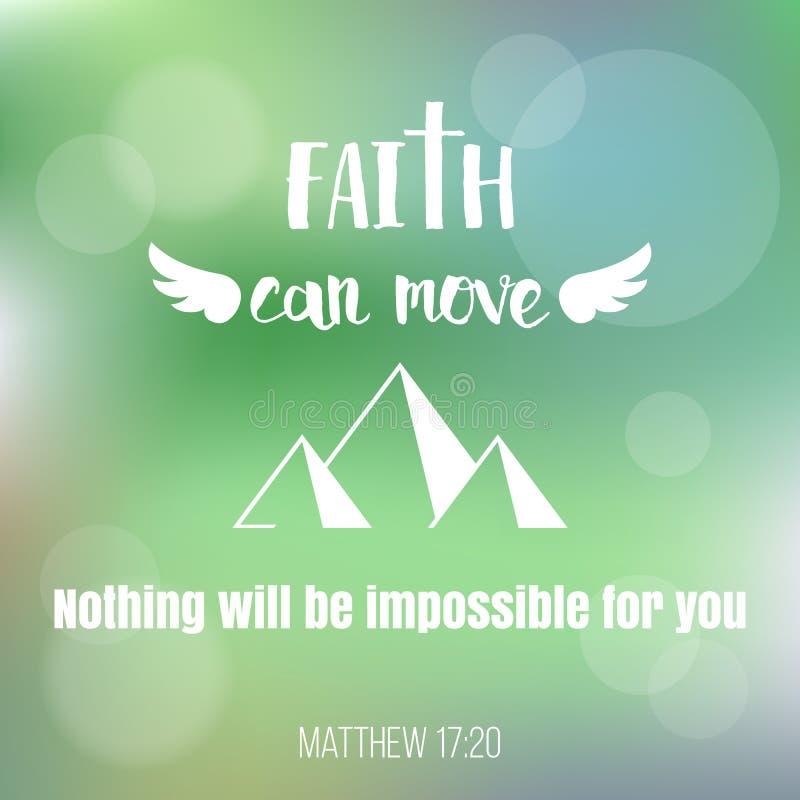 Вера может двинуть горы бесплатная иллюстрация
