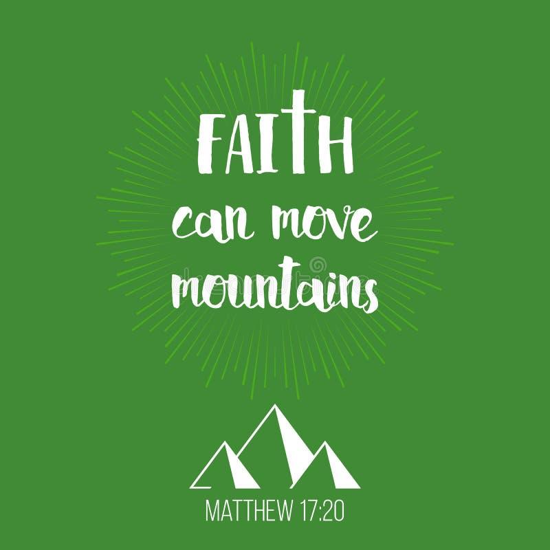 Вера может двинуть горы иллюстрация штока