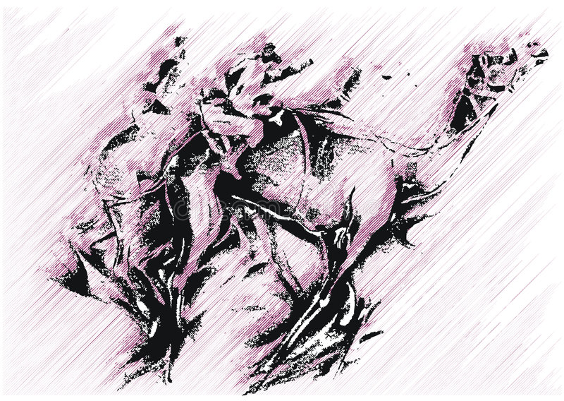 верблюд искусства иллюстрация вектора