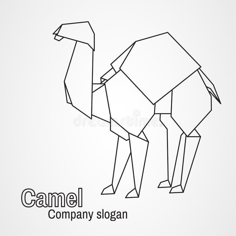 Верблюд контура логотипа Origami бесплатная иллюстрация