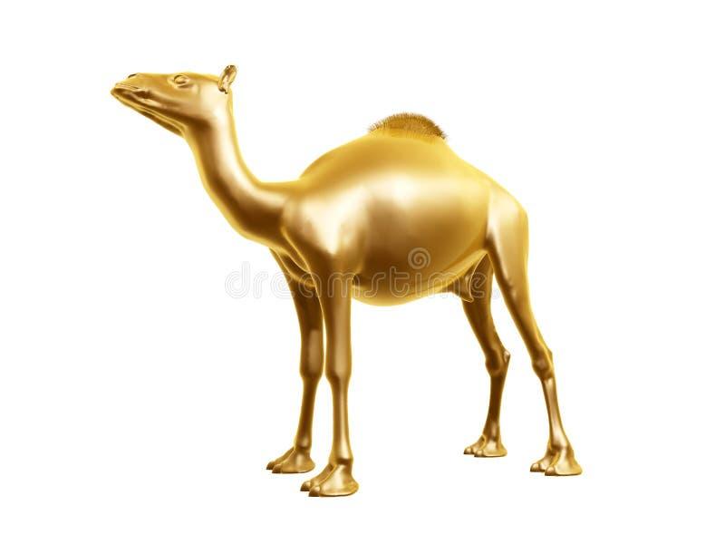 верблюд золотистый иллюстрация штока