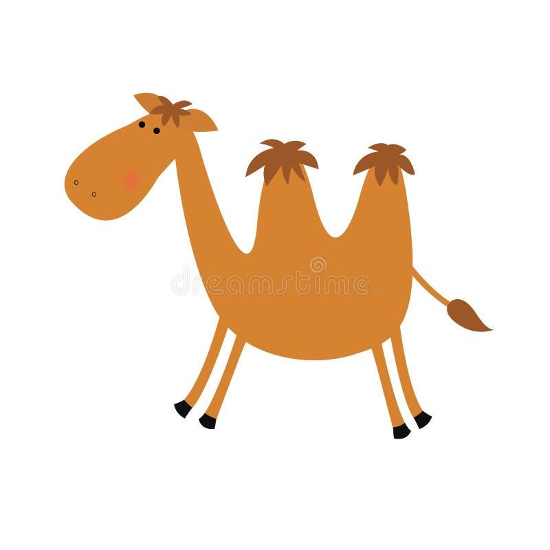 верблюд смешной иллюстрация вектора