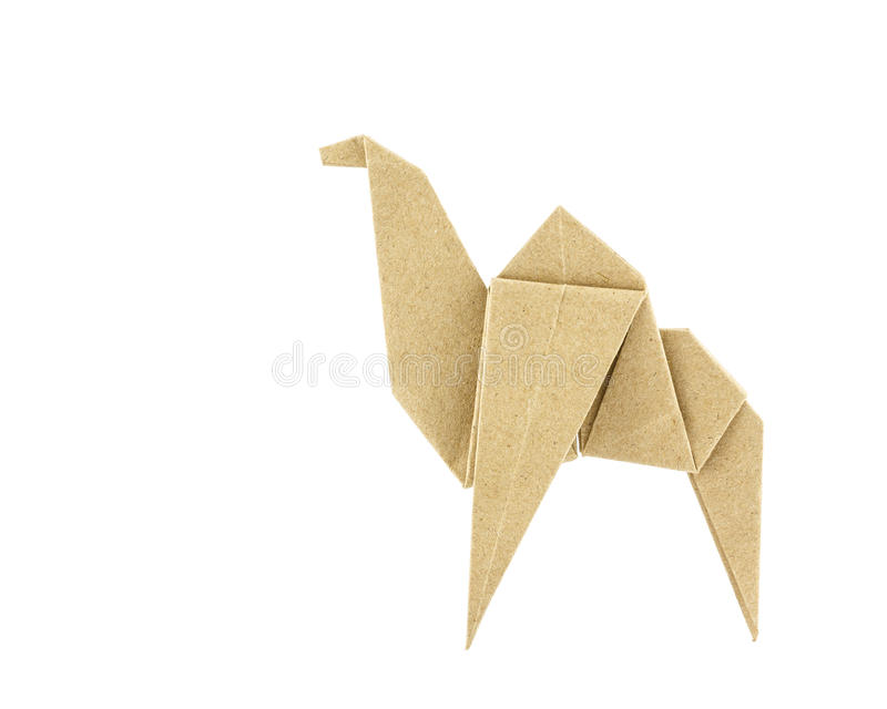Верблюд Origami рециркулирует бумагу стоковая фотография rf