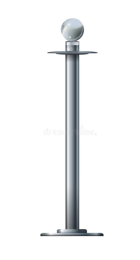 Веревочка барьера изолированная на белизне Серебряная роскошная концепция 3d VIP представить бесплатная иллюстрация