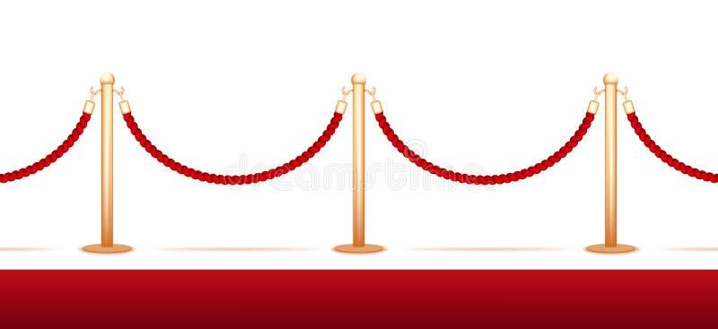 Веревочка барьера бесплатная иллюстрация