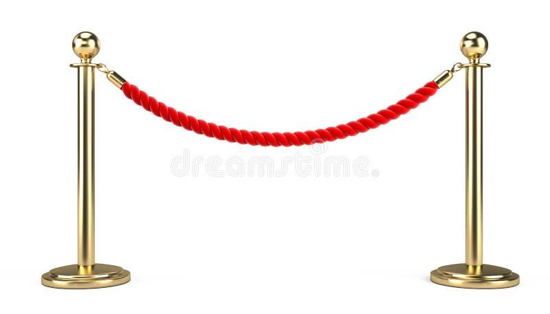 Веревочка барьера иллюстрация вектора