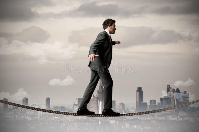 веревочка бизнесмена стоковая фотография rf