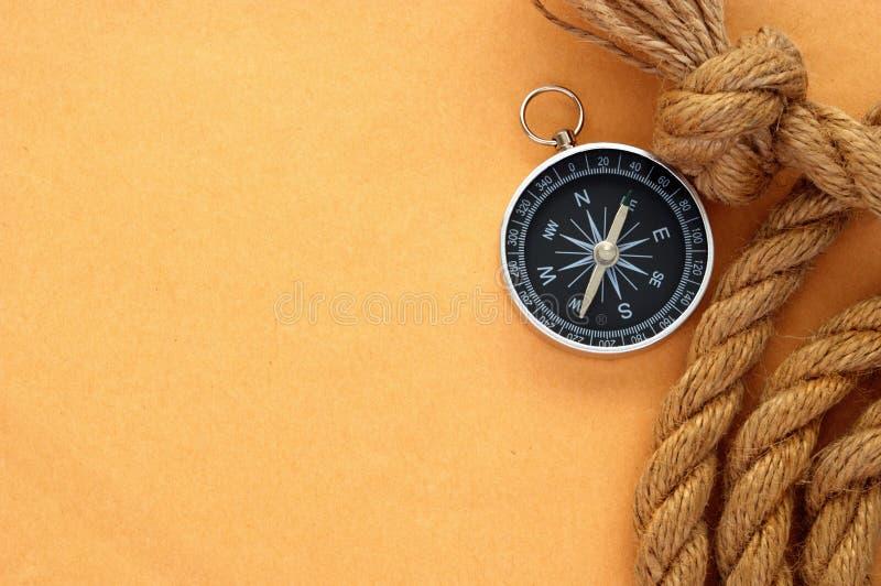 веревочка компаса старая бумажная стоковое фото