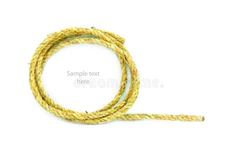 Веревочка на предпосылке стоковое изображение rf