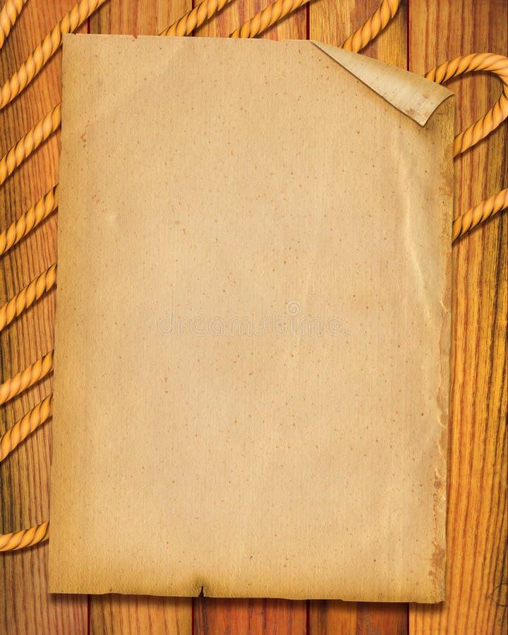 веревочка предпосылки старая бумажная стоковое изображение rf