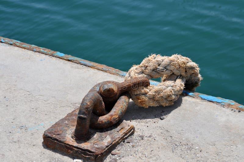 Веревочка связанного корабля стоковые изображения