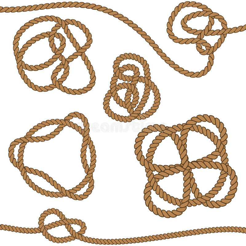 Веревочка с кельтским узлом иллюстрация вектора