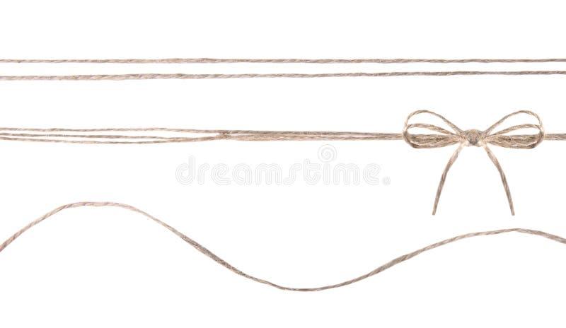 Веревочка шпагата при изолированный коллаж смычка стоковые фото