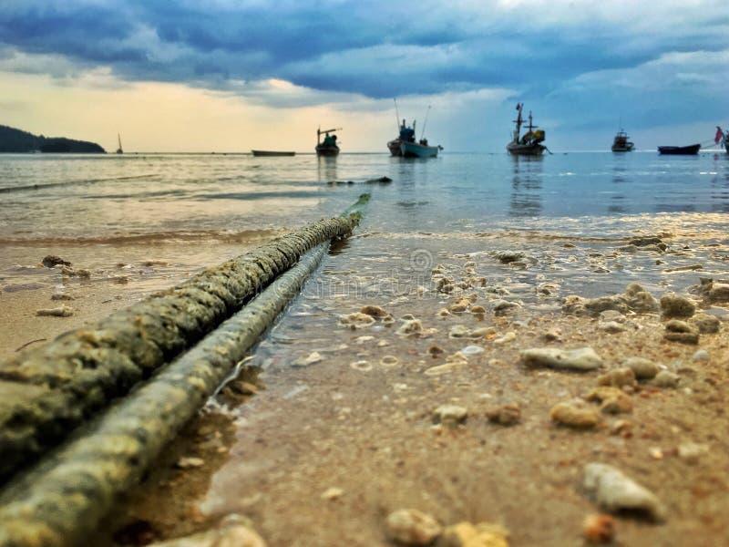 Веревочка Boat's стоковые изображения