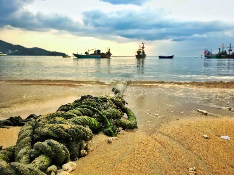 Веревочка Boat's стоковая фотография rf