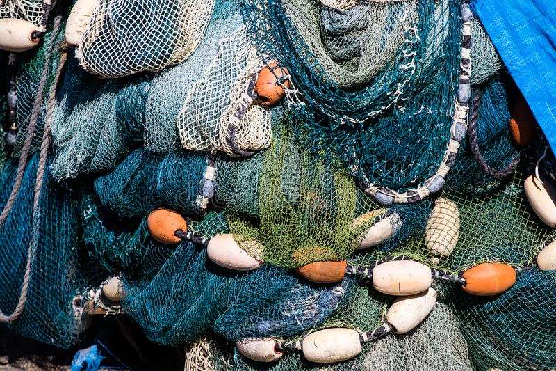 Веревочки и сети рыбной ловли стоковые изображения