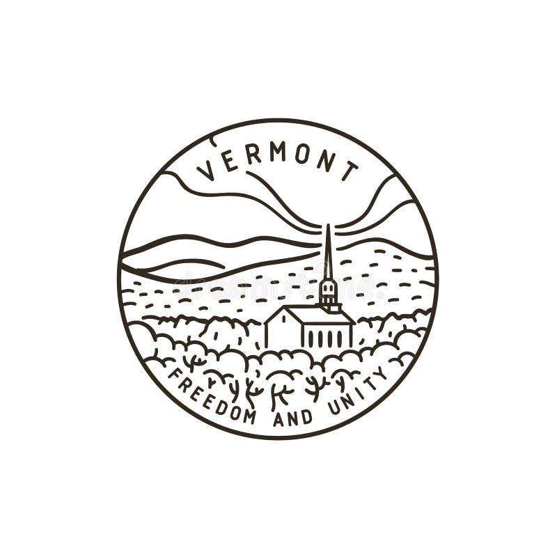 Вермонт пуща церков иллюстрация штока