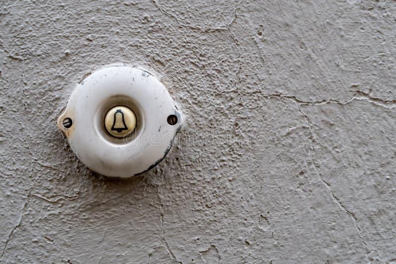 дверной звонок старый стоковые изображения rf