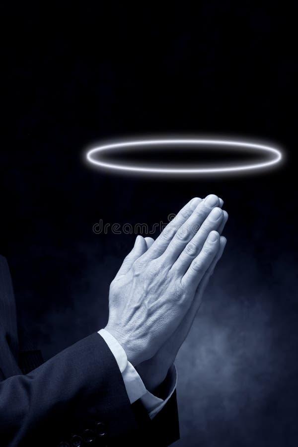 вероисповедание молитве венчика моля стоковое изображение