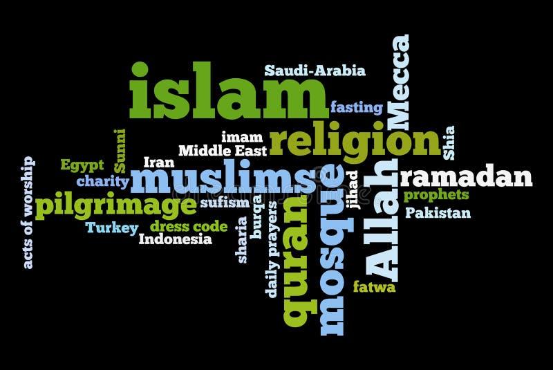 вероисповедание мусульманства иллюстрация вектора