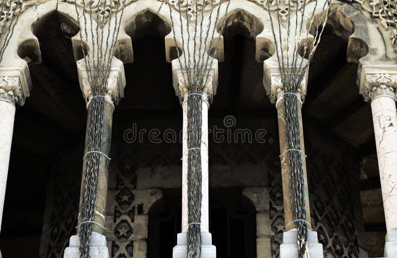 Вероисповедание символа ислама здания мечети стоковые фотографии rf