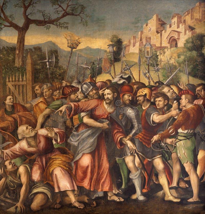 Верона - плен Христоса от молельни Avanzi в церков Сан Бернардино стоковая фотография