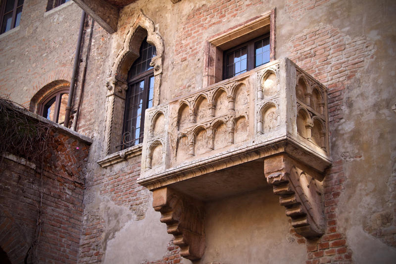 Верона, Romeo и балкон Juliet стоковое фото