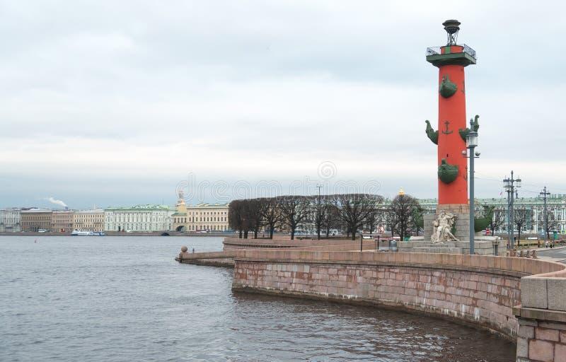 Вертел острова Vasilievsky стоковое фото rf