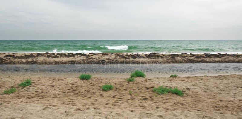 Вертел песка на overcast стоковое изображение