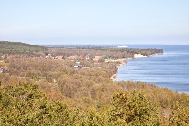 Вертел Curonian, Efa дюны стоковое фото