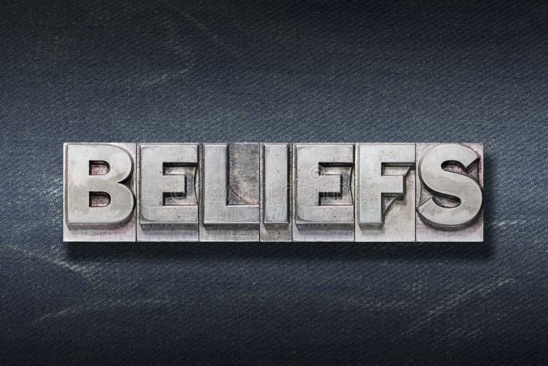 Вертеп слова верований стоковые изображения rf