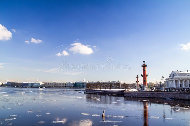 Вертел острова Vasilyevsky стоковое фото rf