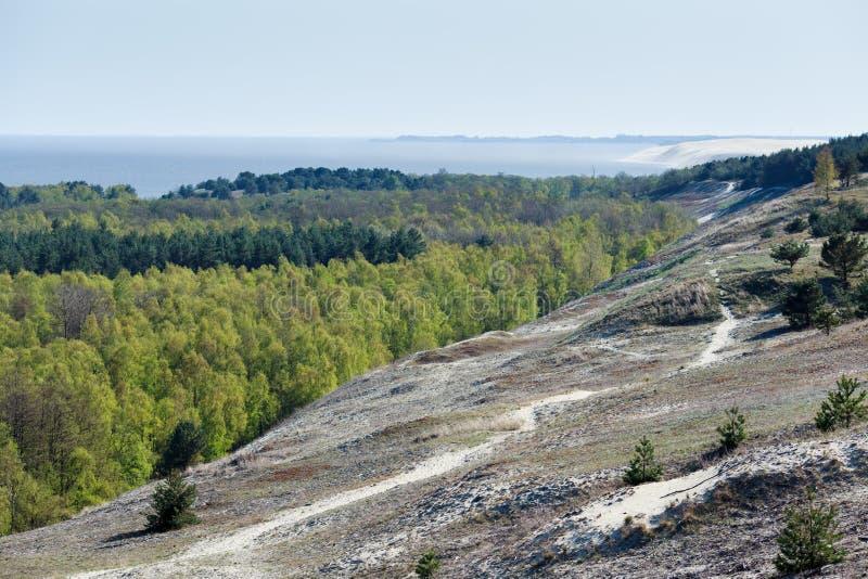 Вертел Curonian на времени весны стоковое фото