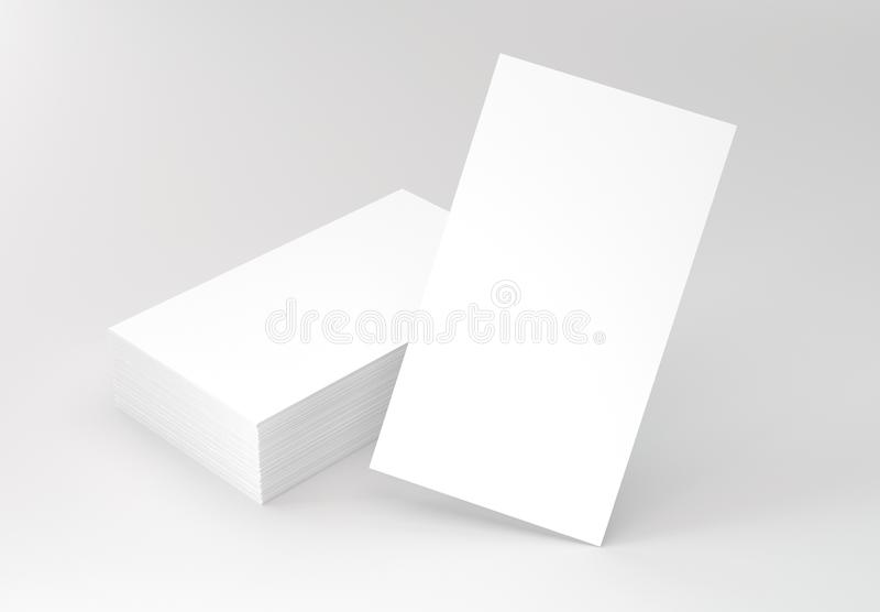 Вертикальные визитные карточки на сером модель-макете стоковые изображения rf