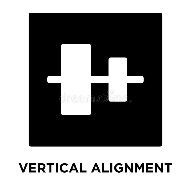 Вертикальный вектор значка выравнивания изолированный на белой предпосылке, журнале иллюстрация вектора