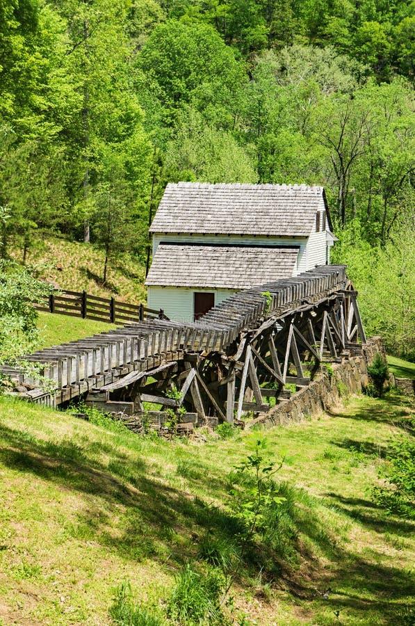 Вертикальный взгляд †мельницы шрота Slone's «исследует парк, Roanoke, Вирджинию, США стоковые изображения