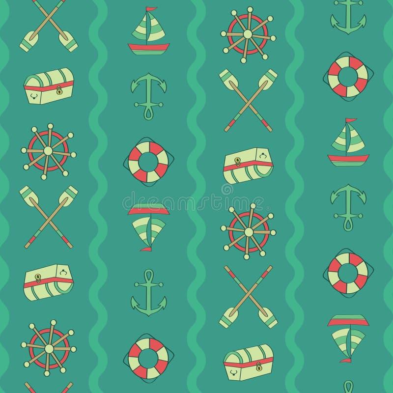 Вертикальный комод волны, затвор, анкер, шлюпка, поплавок, управляя бесплатная иллюстрация