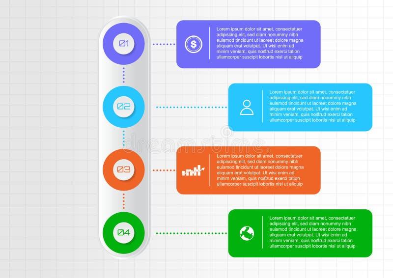 Вертикальный infographic дизайн вектора элемента иллюстрация штока