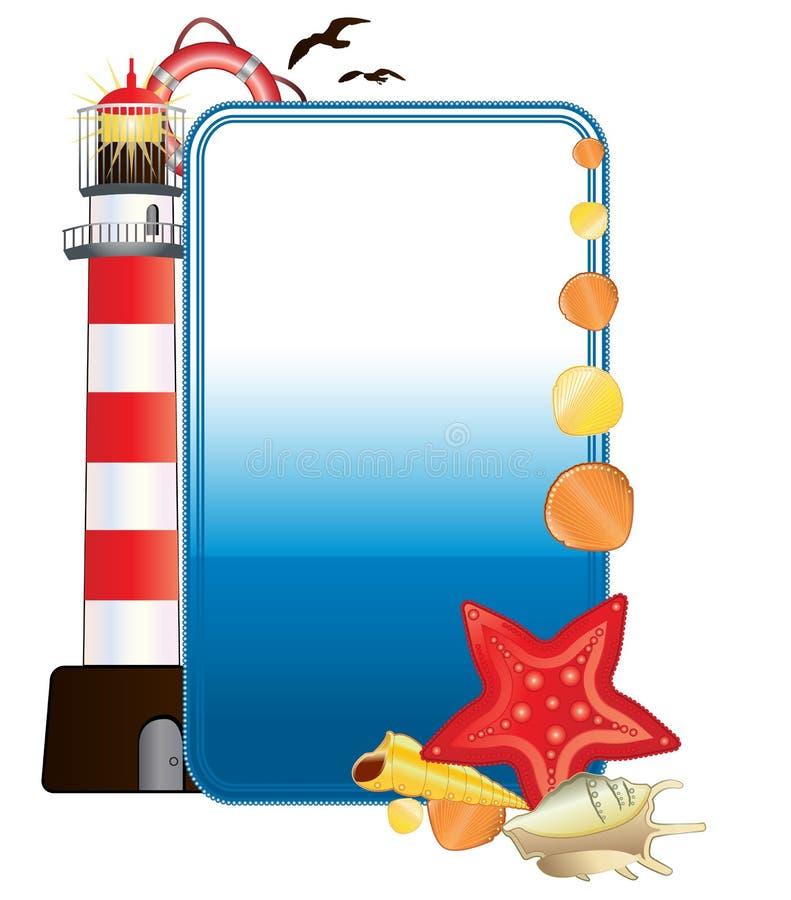 вертикаль моря открытки иллюстрация штока