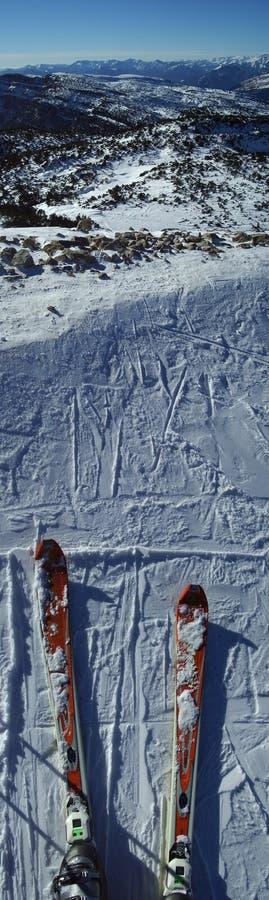 Download вертикаль панорамы доломита Стоковое Изображение - изображение насчитывающей слалом, лыжа: 79087
