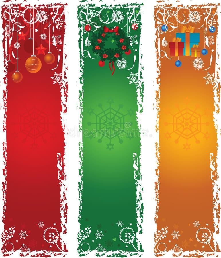 вертикаль рождества 3 знамен иллюстрация штока