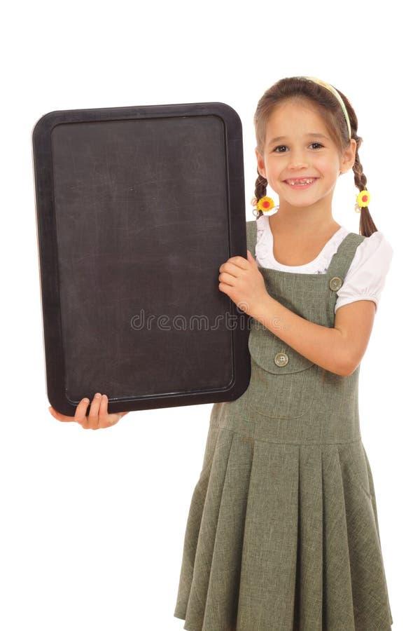 вертикаль школьницы chalkboard пустая маленькая стоковые фото