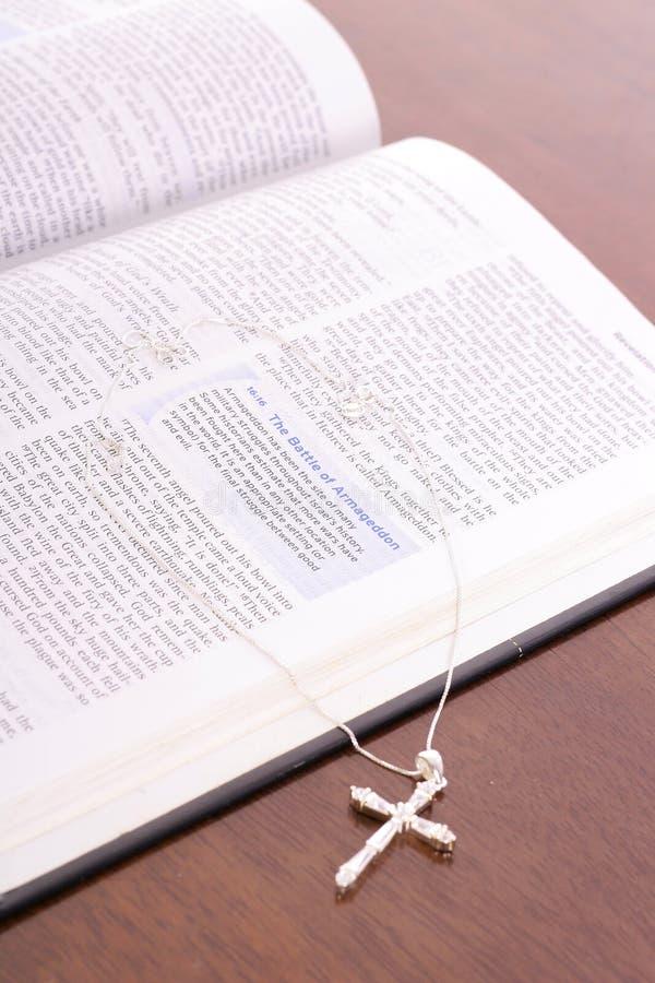 вертикаль rhinestone библии перекрестная стоковое изображение