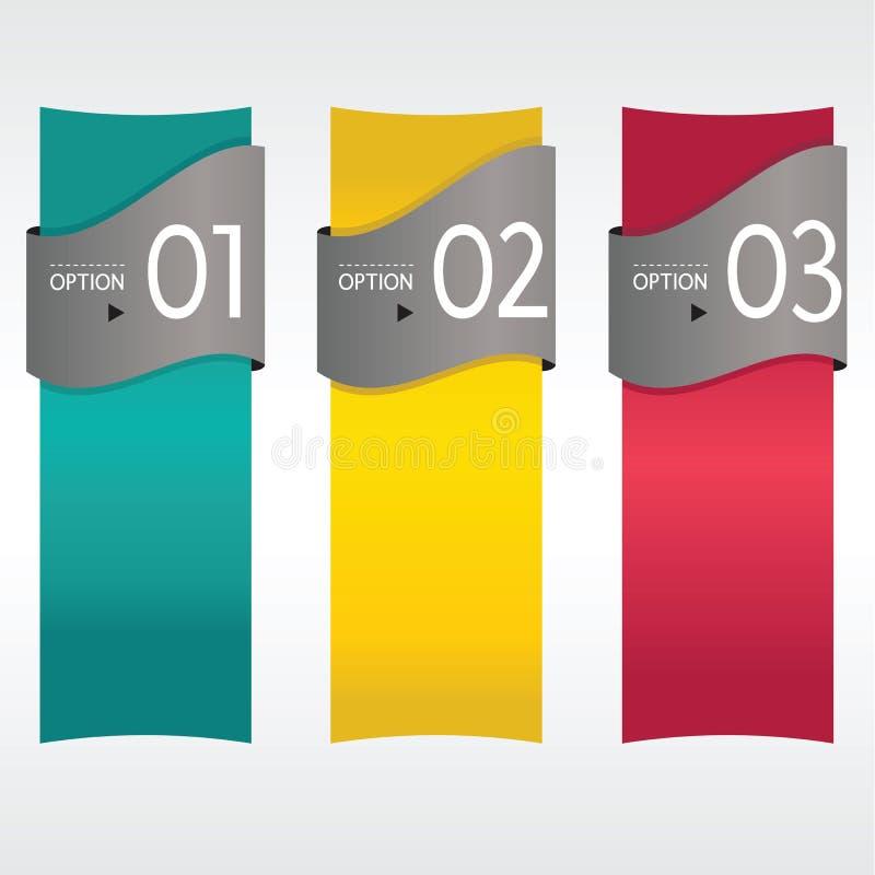 Вертикальное знамя. иллюстрация вектора