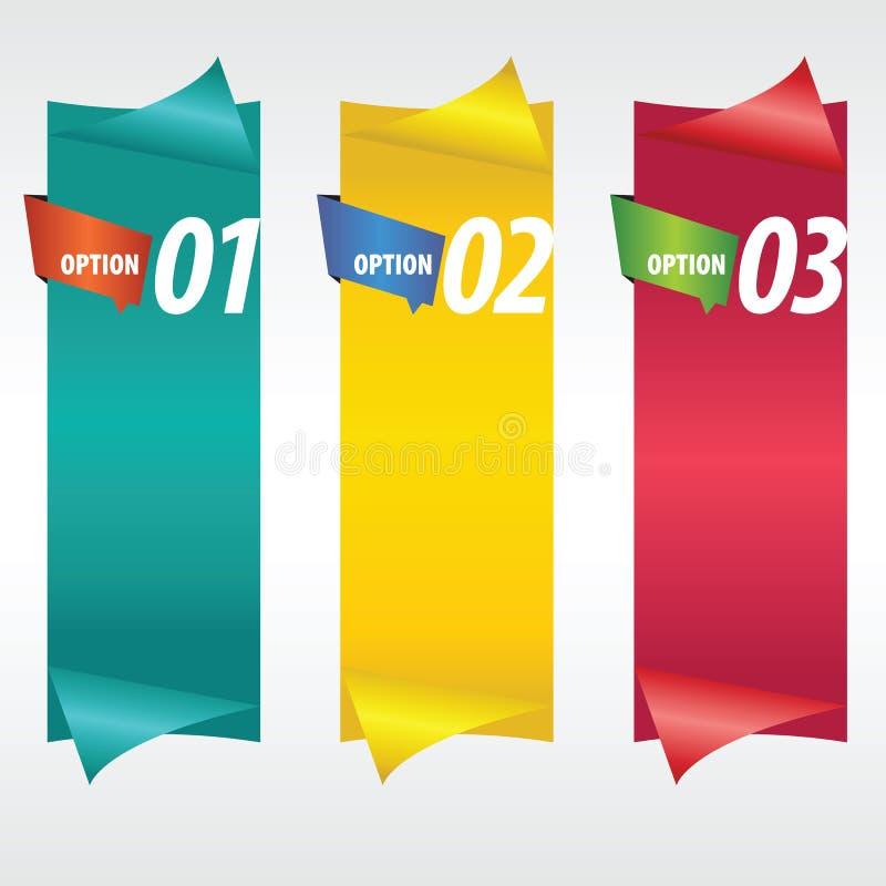Вертикальное знамя. иллюстрация штока