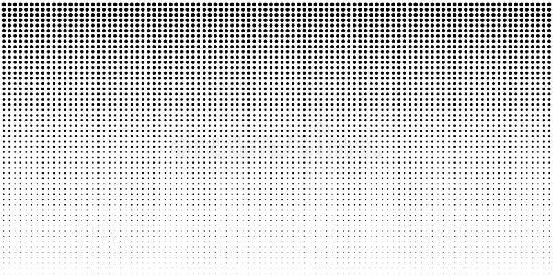 Вертикальное полутоновое изображение градиента bw ставит точки предпосылка, горизонтальный шаблон используя черный точечный растр бесплатная иллюстрация