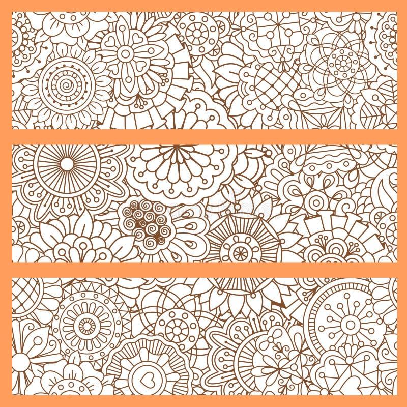 Вертикальные рогульки с оранжевой картиной doodle бесплатная иллюстрация