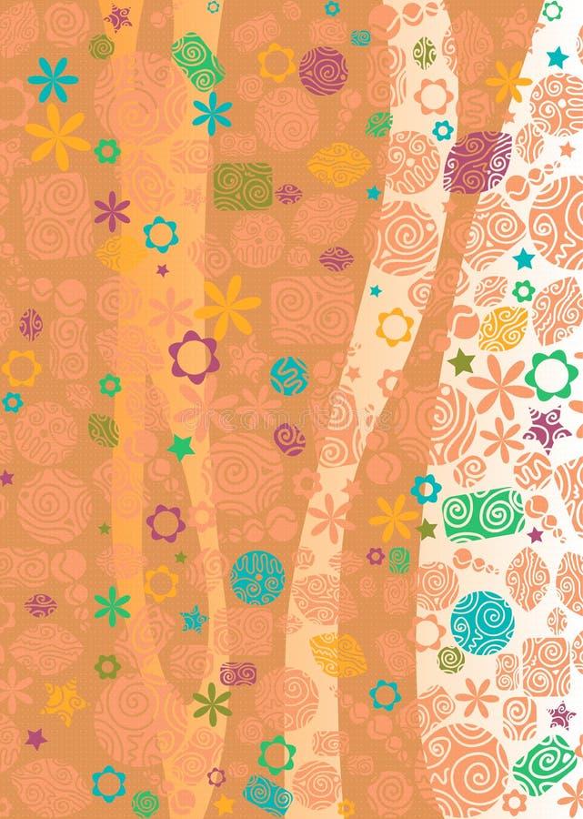 Вертикальный флористический фон стоковая фотография