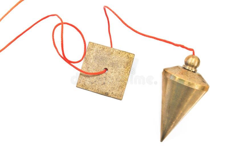 Вертикальный plumb bob стоковая фотография