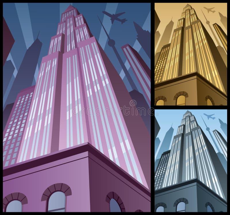 Вертикаль 2 городского пейзажа бесплатная иллюстрация
